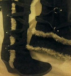 a.n.a Shoes - ANA boots with the Faux Fur